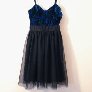 Garage Velvet & Tulle Skater Mini Dress NWOT